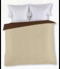 Funda nórdica Liso bicolor. Es-Tela 231-CAFE-CAMEL