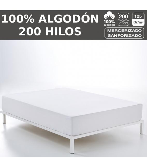 Pack de 10 bajeras ajustables LISOS HOSTELERIA.100% algodón (200 hilos). Es-Tela