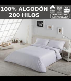 Pack de 10 fundas nórdicas LISOS HOSTELERIA. 100% algodón (200 hilos). Es-Tela