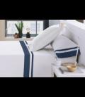 Juego sábanas satén serie Marbella 326-BLANCO-ZINC