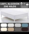 Bajera ajustable COMBI LISOS. 100% algodón (200 hilos)