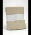 Manta de algodón reciclado Lares 138-PIEDRA