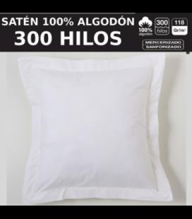 Funda de cojín COMBI SATEN 300H. 100% algodón (300 hilos). Es-Tela