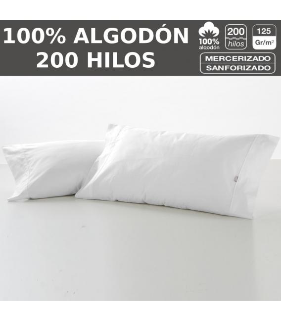 PACK 10 F. ALMOHADAS LISO 200H HOSTELERIA 100% ALGODON