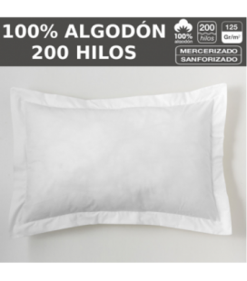 PACK 10 COJINES LISO 200H HOSTELERIA 100% ALGODON
